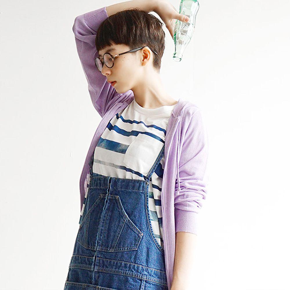 日本 zootie - 涼感X防曬速乾 連帽外套-薰衣草
