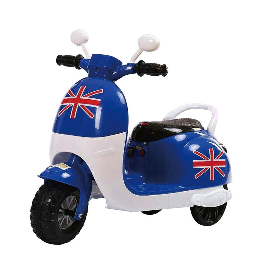 Ching Ching - 英倫學院風 電動摩托車-寶石藍色