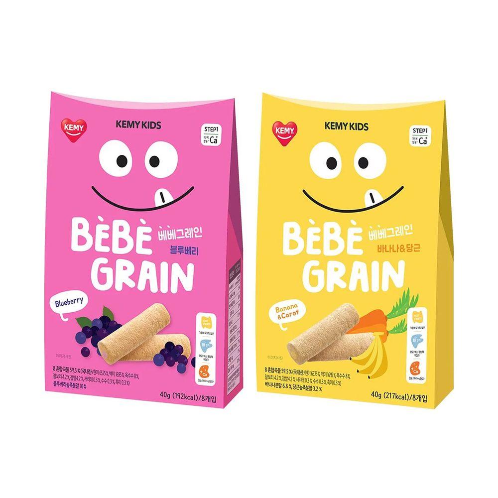 KEMY KIDS - 貪吃凱米 穀物小捲心兩入組 -香蕉紅蘿蔔+藍莓