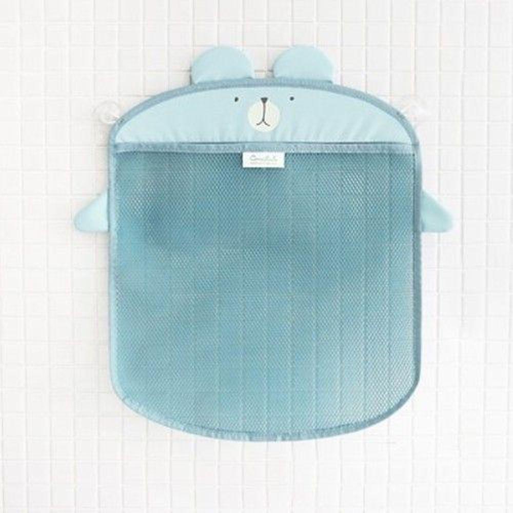 韓國 Conitale - 洗澡玩具收納袋-藍色小熊 (35*40cm)