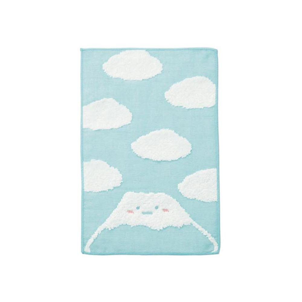 日本千趣會 - 角落生物 質感雙材質毛巾手帕-山-水藍 (15x24cm)