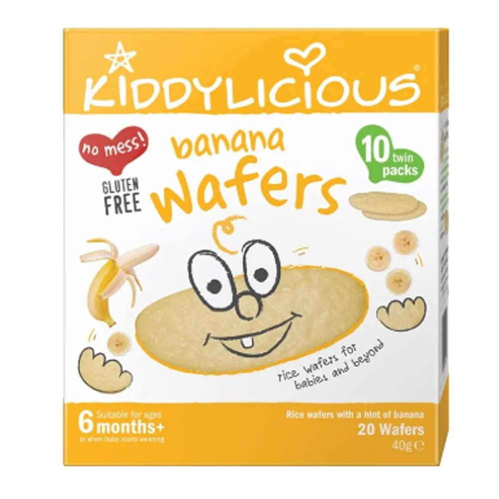 kiddylicious 英國童之味 - 香蕉泡泡米餅(2020/04/01)-40g/盒