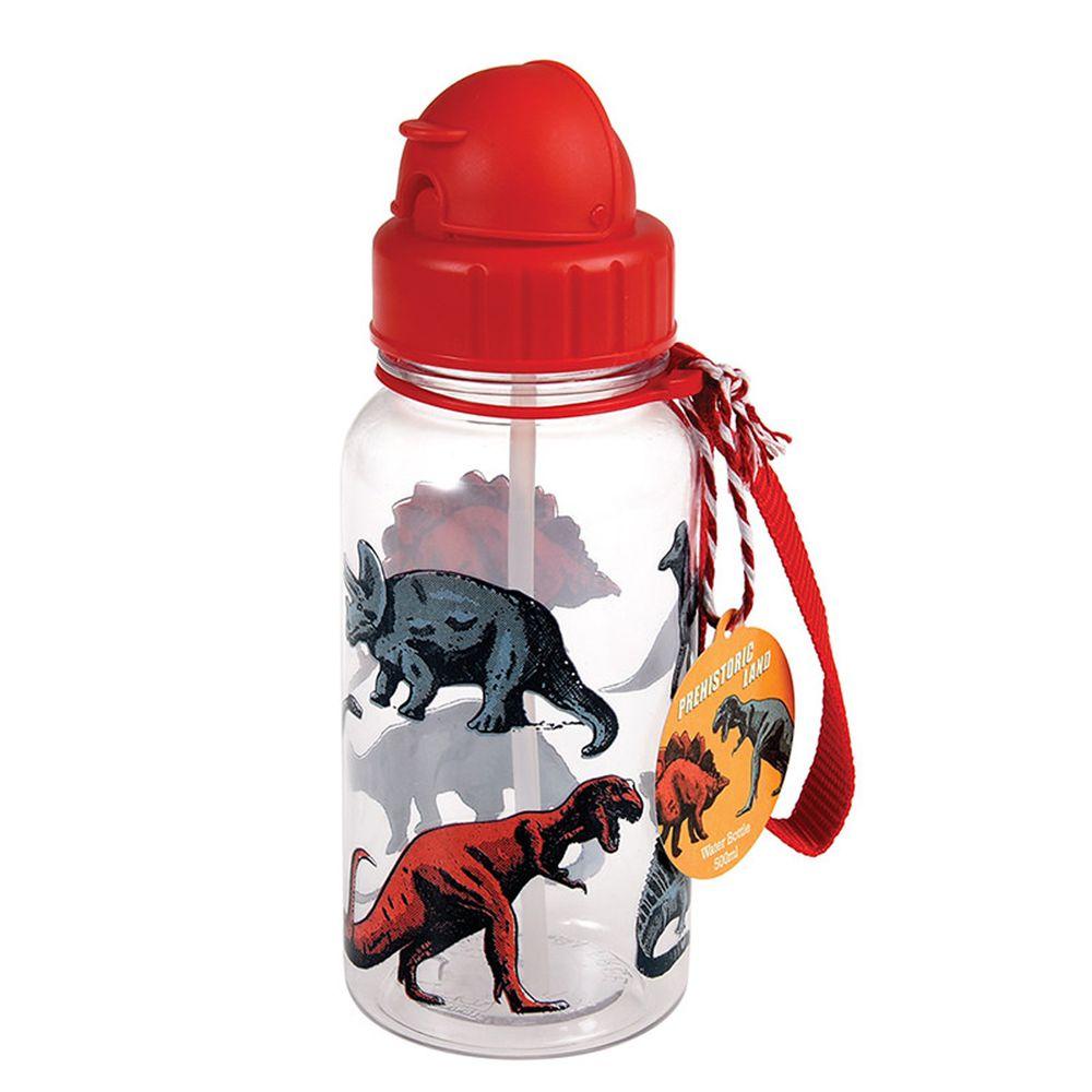 英國 Rex London - 兒童吸管水瓶-恐龍樂園(500ML)
