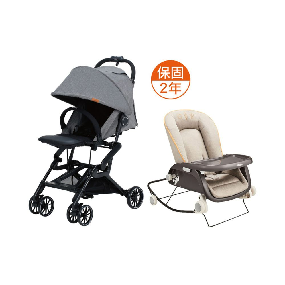 日本 Combi - 捷旅 CFS  嬰兒手推車-prumea SE-無限灰-1個月~36個月(體重15kg以下)