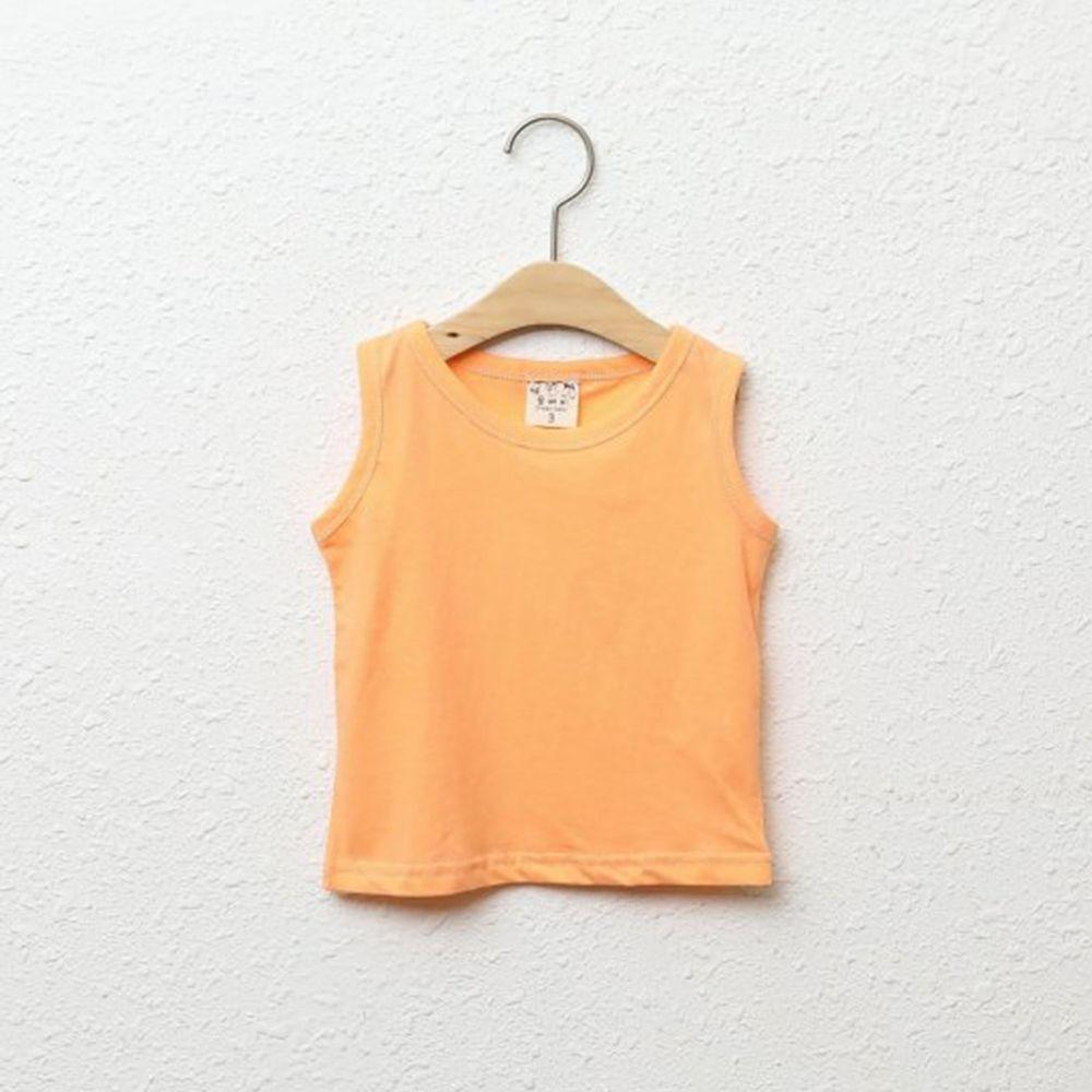 韓國製 - 純棉小背心-橘