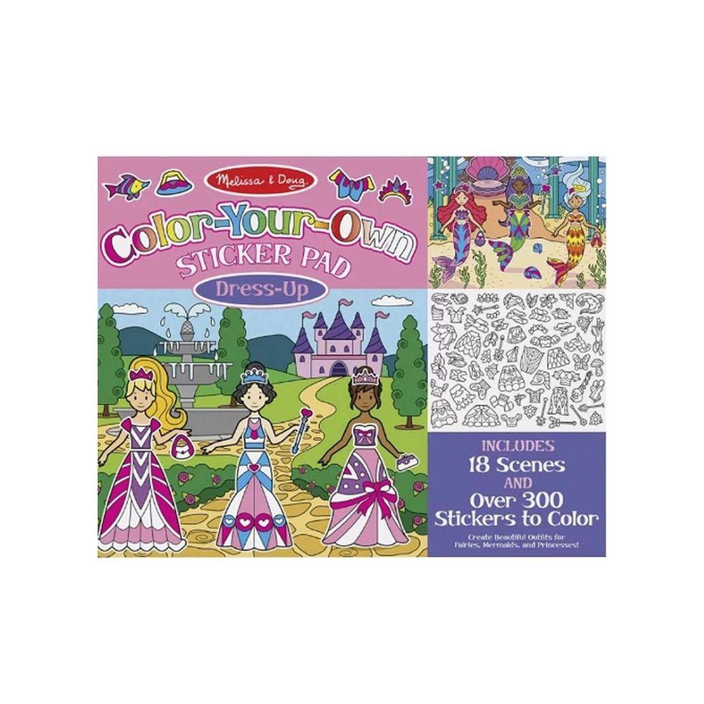 美國瑪莉莎 Melissa & Doug - MD 貼紙簿-彩繪創作,童話裝扮