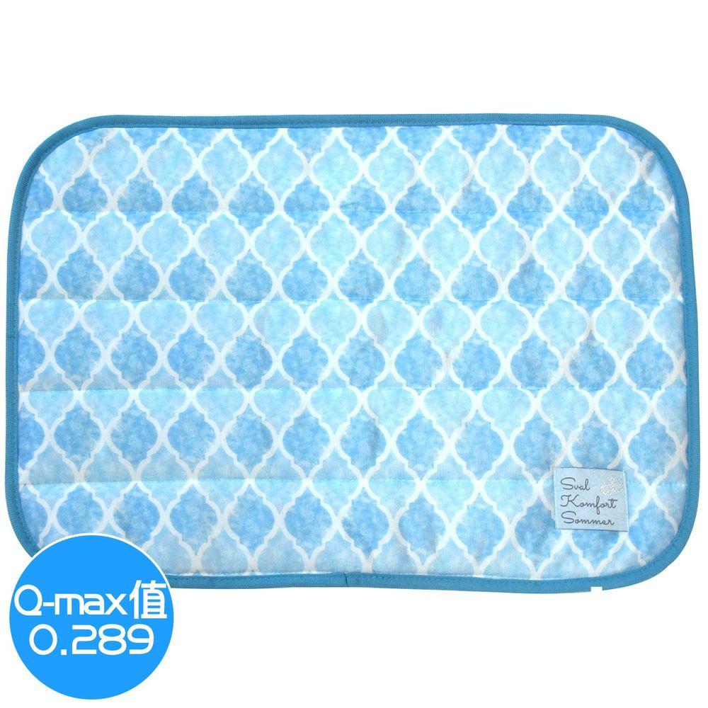 日本 DAIKAI - 接觸涼感枕頭套-菱格-水藍 (50x37cm)