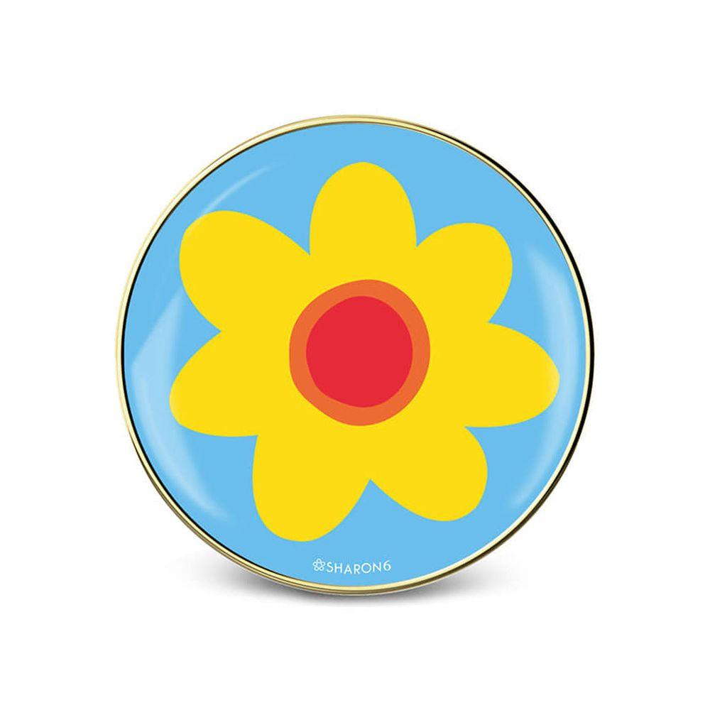 韓國 SHARON6 - 手機氣囊支架-鑲金款-藍花