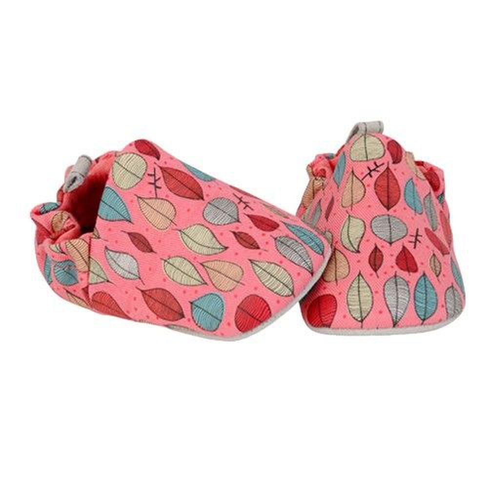 英國 POCO NIDO - 寶寶手工鞋/學步鞋-秋葉 - 紅