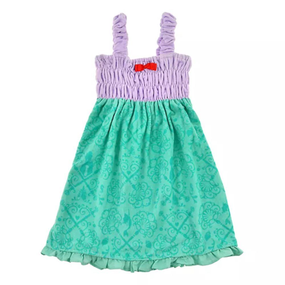 日本服飾代購 - 迪士尼公主造型浴巾/浴袍-小美人魚-紫X綠 (身高105~115cm)