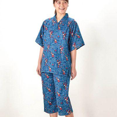 迪士尼浴衣風睡衣 (媽媽)-奇奇與蒂蒂(葉子)