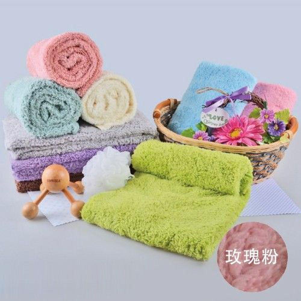 貝柔 Peilou - 超強十倍吸水超細纖維抗菌大毛巾/枕巾-玫瑰粉 (50x90cm)