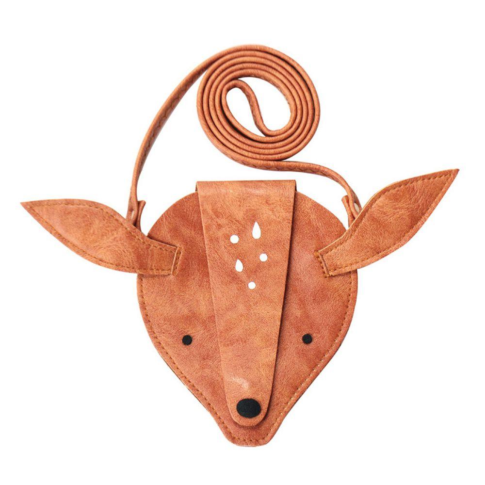 北歐風仿麂皮零錢卡包-小鹿