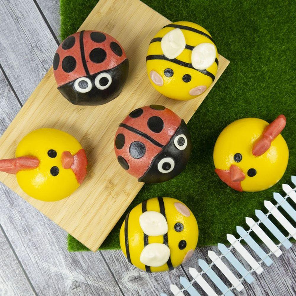 艾酷奇 - 草原昆蟲組-(6入/盒)-黃雞(紅豆)*2 紅瓢蟲(花生)*2 蜜蜂(奶黃)*2-65g±5%