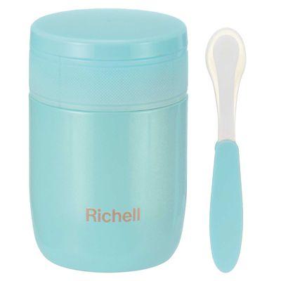 日本 Richell 利其爾 - 不鏽鋼真空保溫罐-薄荷綠-350ml