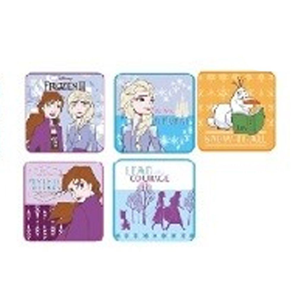 日本代購 - 卡通方形小手帕五件組-冰雪奇緣II (15x15cm)