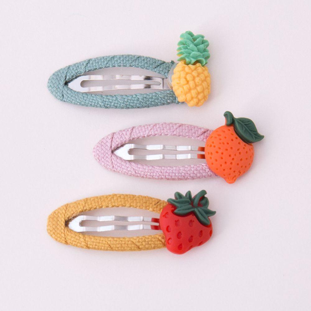 蔬果BB夾髮夾3入組-鳳梨/橘子/草莓