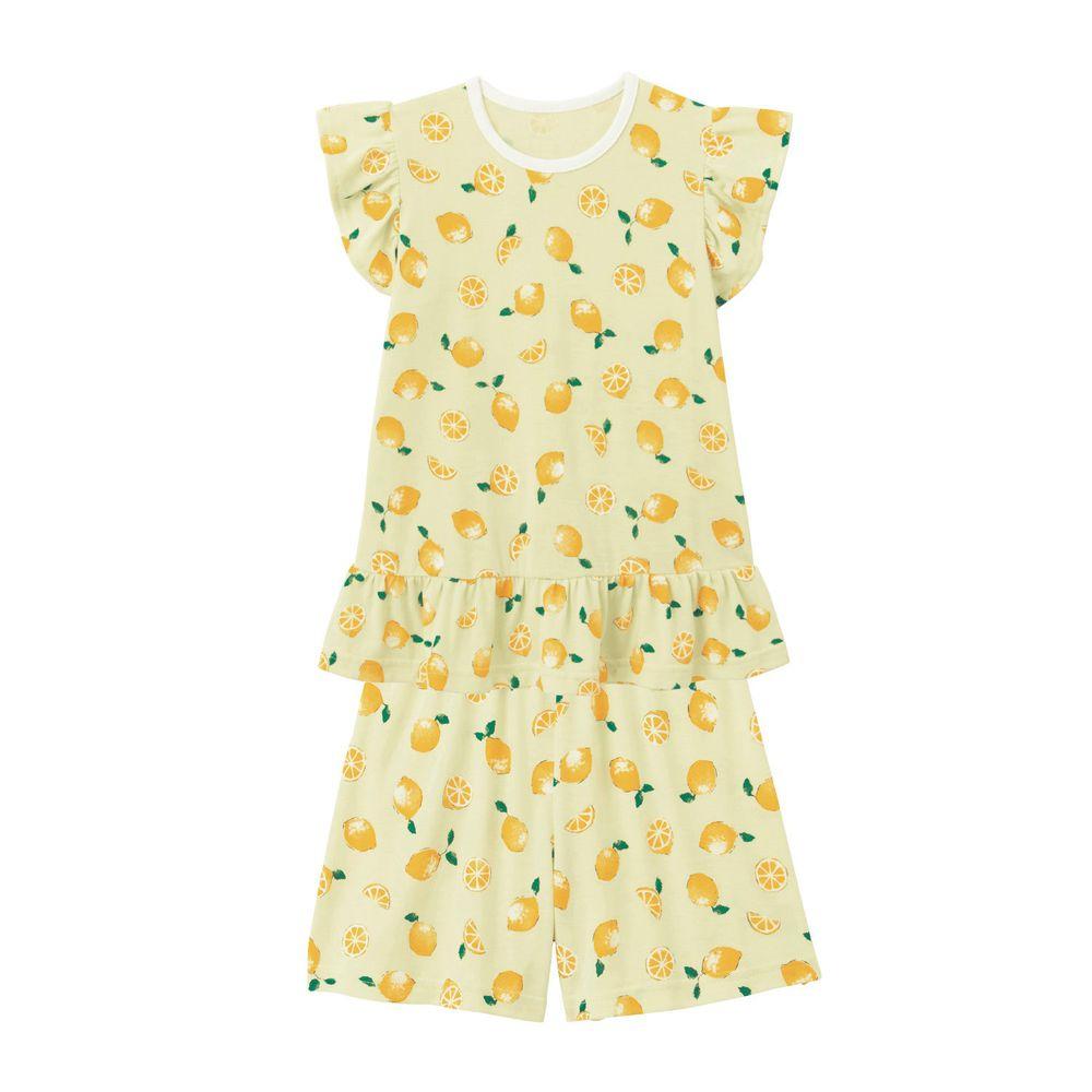 日本千趣會 - GITA 接觸涼感舒適短袖家居服-檸檬-黃