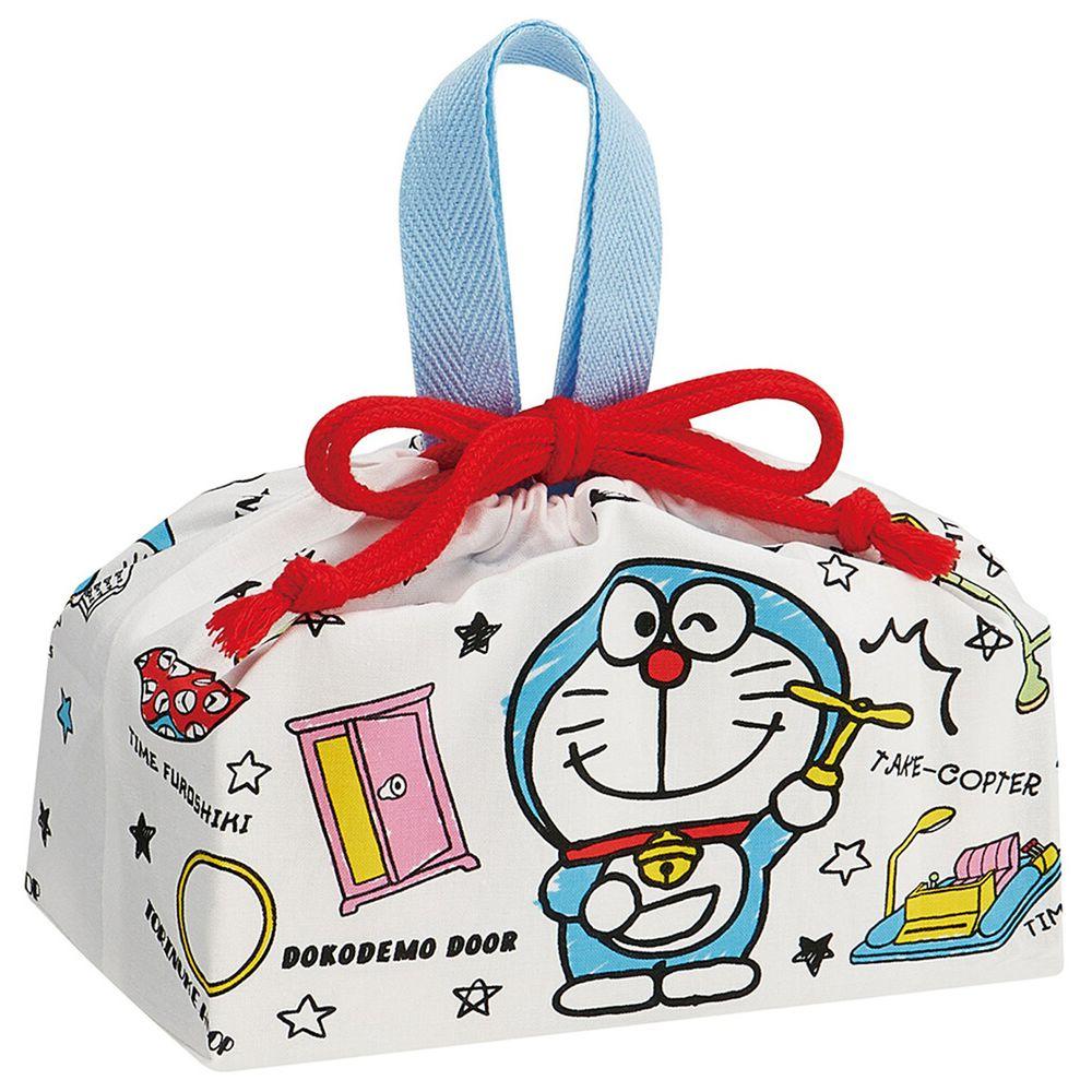 日本 SKATER 代購 - 日本製純棉束口手提袋-哆拉A夢百寶袋 (29x16.5x12cm)-KB7