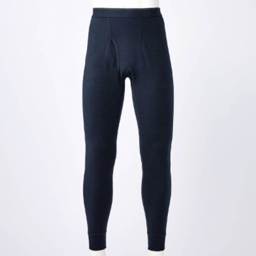 日本千趣會 - 95%棉 (爸爸)十分丈發熱褲-黑色