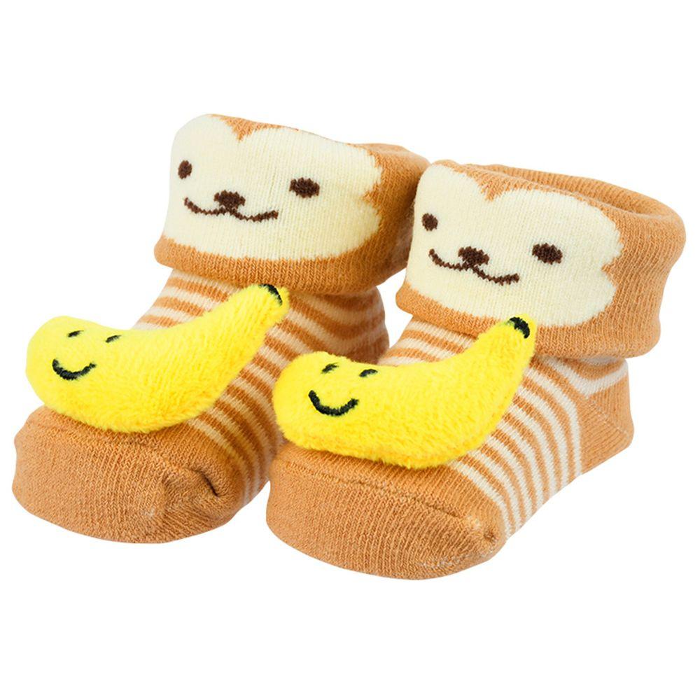 akachan honpo - 造型襪-猴子-咖啡色 (7~9cm)