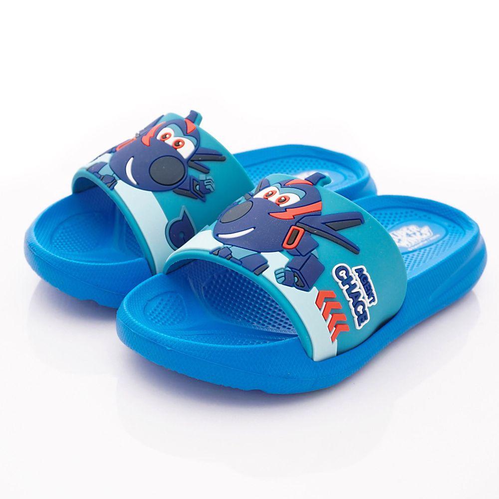 SuperWings - 卡通童鞋-超輕量拖鞋(中小童段)-藍