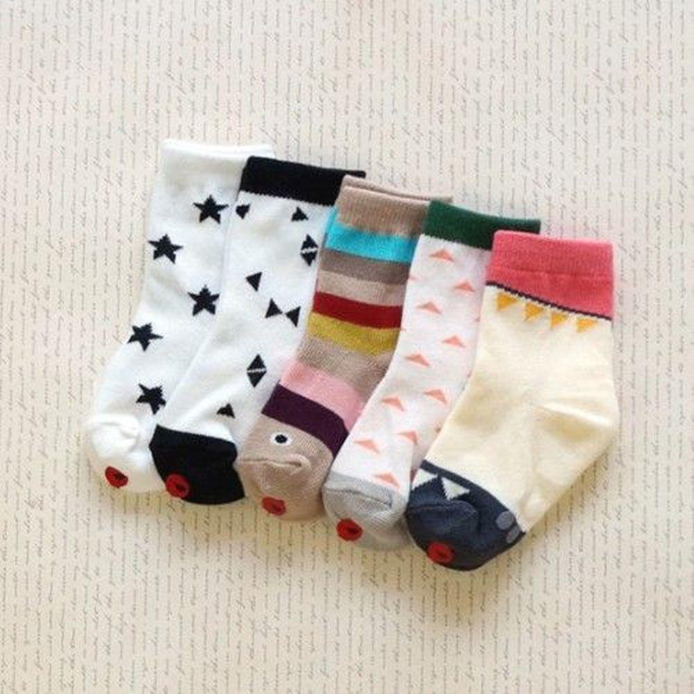 韓國 Kokacharm - 韓國製踝襪-五件組-Great socks
