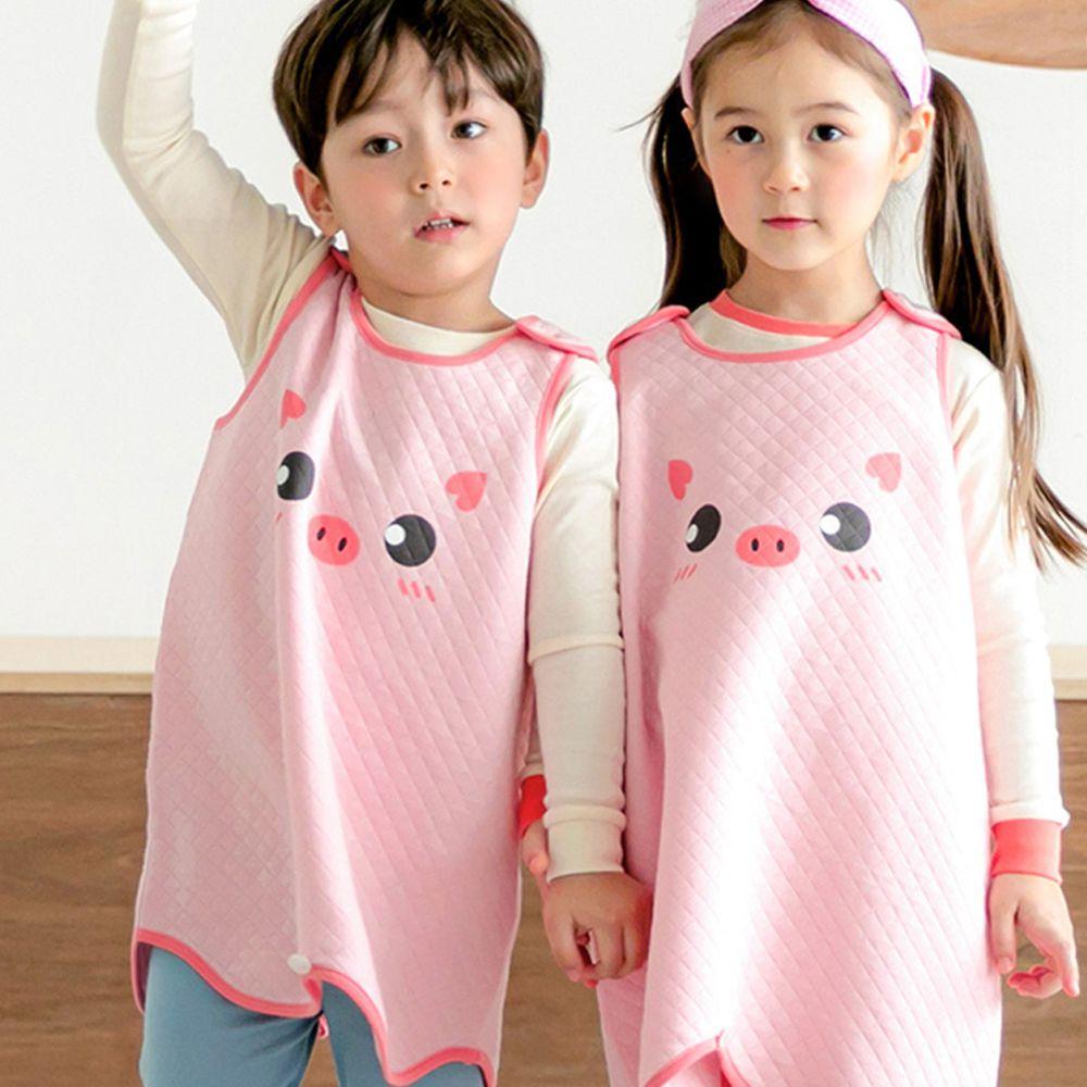 韓國 Maykids - 有機棉鋪棉保暖防踢被-粉紅小豬
