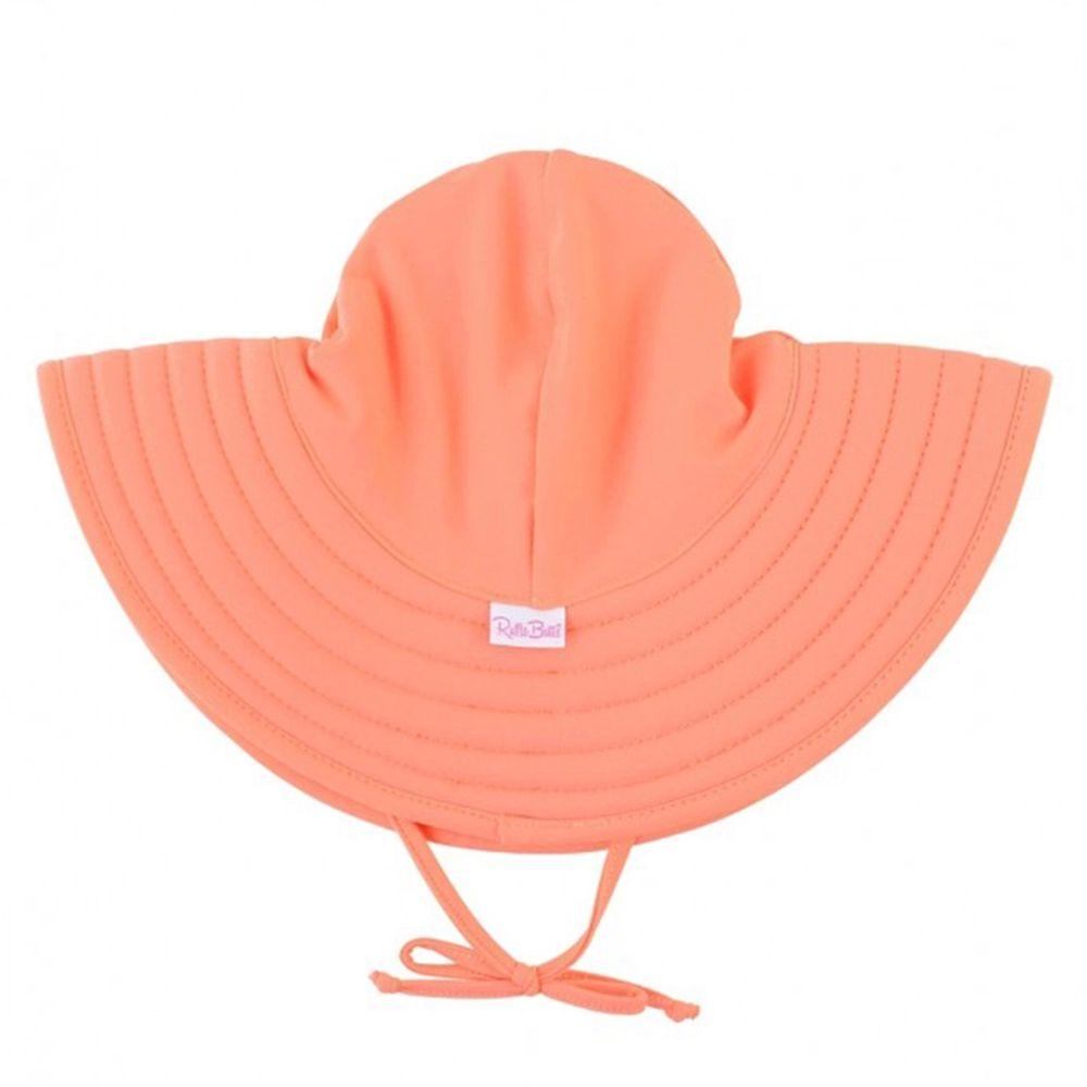 美國 RuffleButts - 嬰幼兒UPF 50+防曬遮陽帽-珊瑚橘