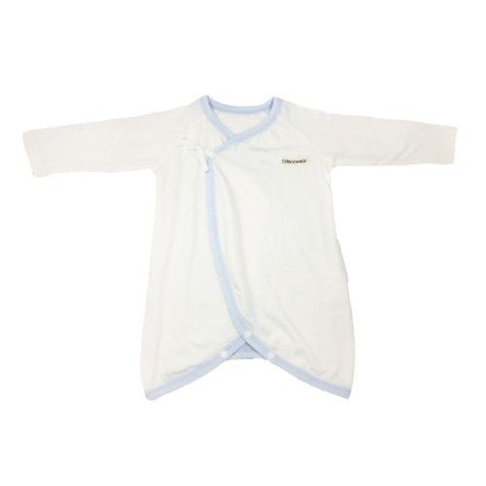 Edenswear 伊登詩 - 鋅健康抗敏系列-嬰兒滾邊綁帶蝴蝶裝-淺藍