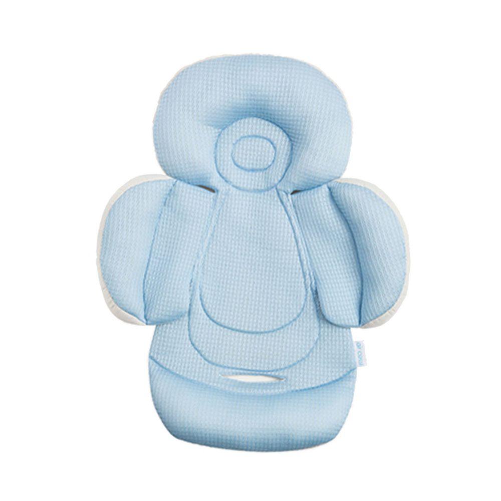 air cossi - 超透氣抗菌天絲坐墊-新生兒全身包覆款0-4m-輕柔藍 (59.5x32.5cm)