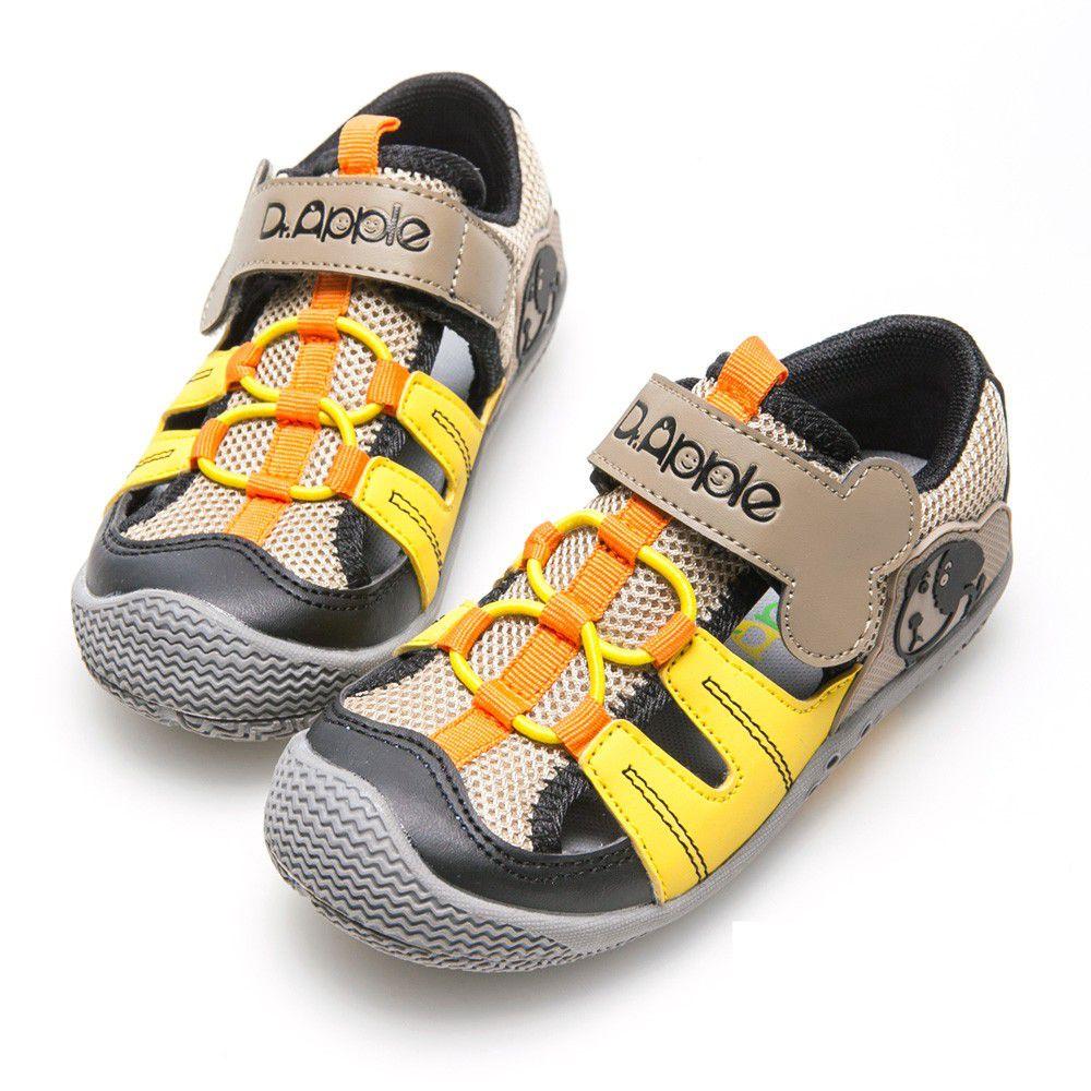 Dr. Apple - 機能童鞋-狗骨頭玩樂青春涼童鞋-黃