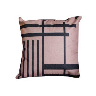 品味英倫棉麻抱枕-U87優雅線條 (44x44cm)-枕套*1+枕心*1