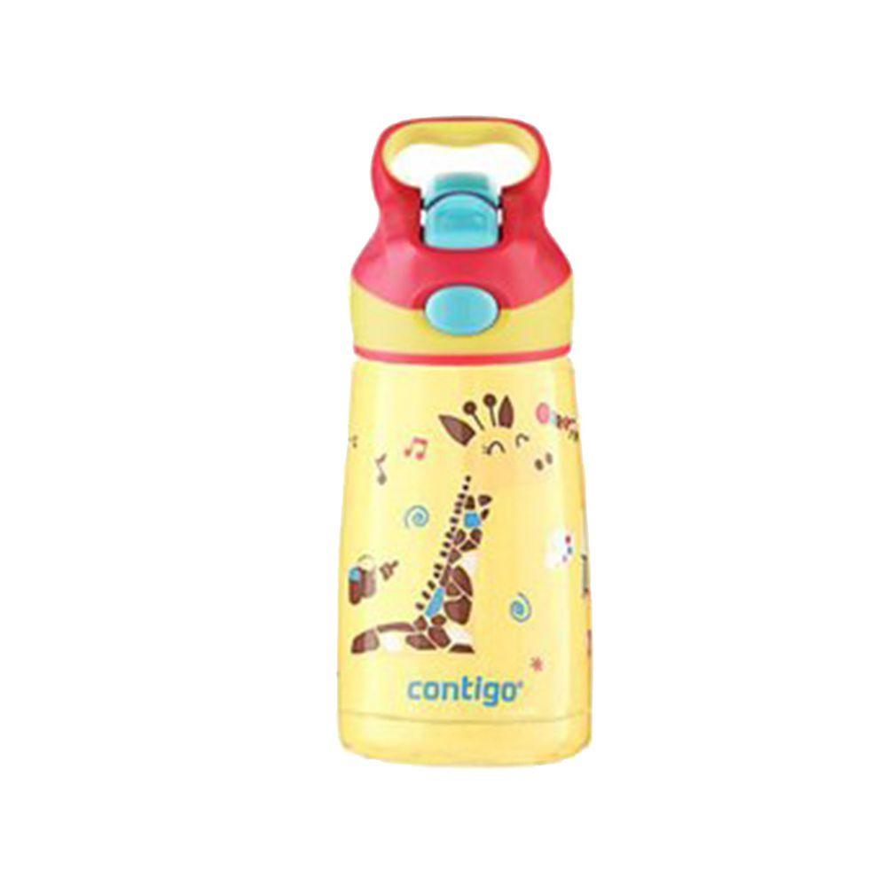 美國 Contigo - Striker 兒童保溫彩印吸管瓶-長頸鹿-296cc