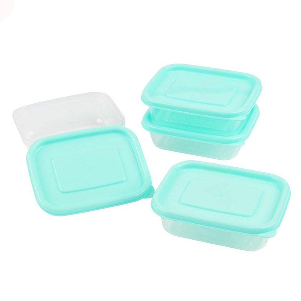 akachan honpo - 離乳食品保存容器-方形M號-綠色-4個入/100ml