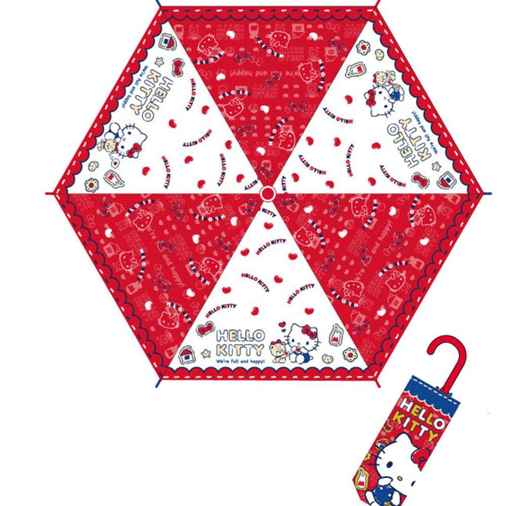 日本代購 - 卡通折疊雨傘-Hello Kitty愛心-紅 (53cm(125cm以上))