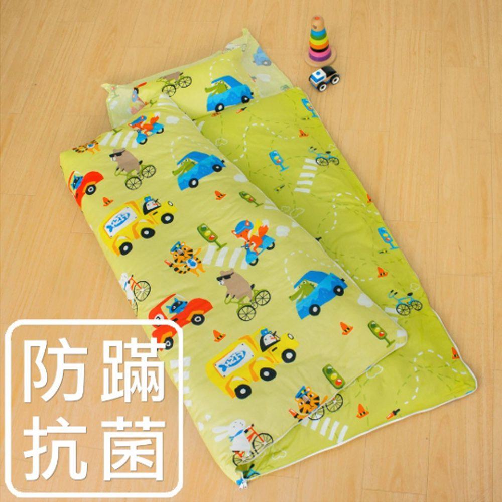 鴻宇HONGYEW - 防螨抗菌100%美國棉鋪棉兩用兒童睡袋-旅行家-2022綠