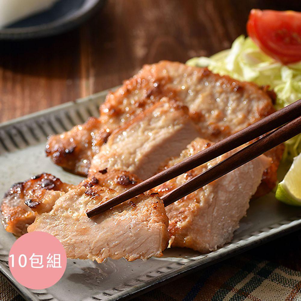 卜蜂 - 醃漬里肌豬排-湖鹽風味(80g) 10包組