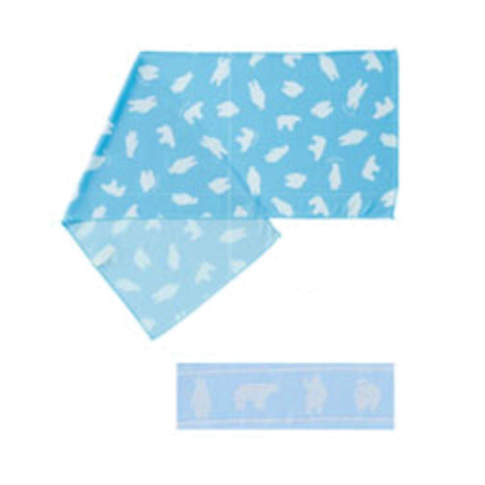 日本小泉 - 90% UV CUT 冷感毛巾(附領巾綁帶)-北極熊-淺藍 (30x90cm)
