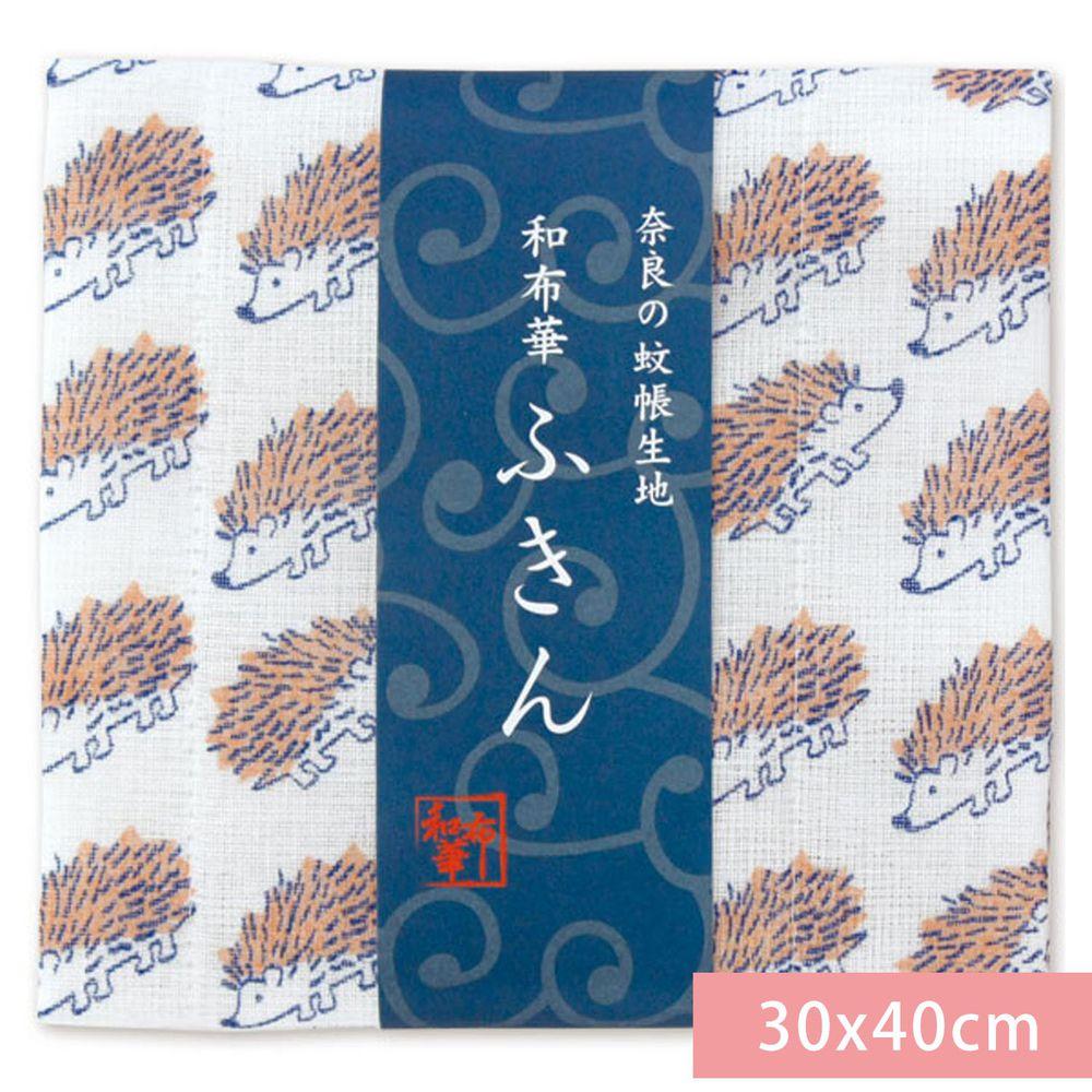 日本代購 - 【和布華】日本製奈良五重紗 方巾-小刺蝟 (30x40cm)