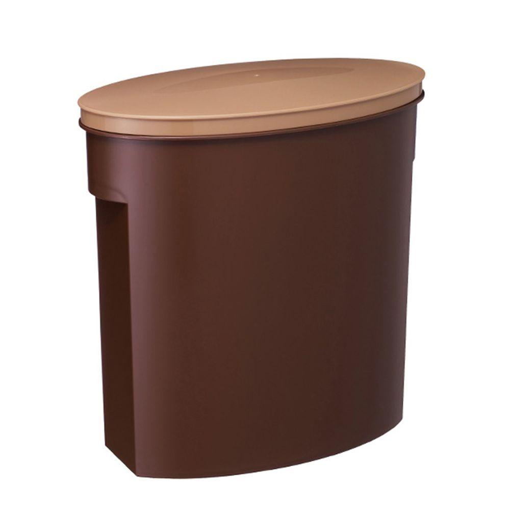 日本ISETO - 小家庭儲米桶附量杯-內斂咖 (寬15.5×深28.5×高28.5cm)