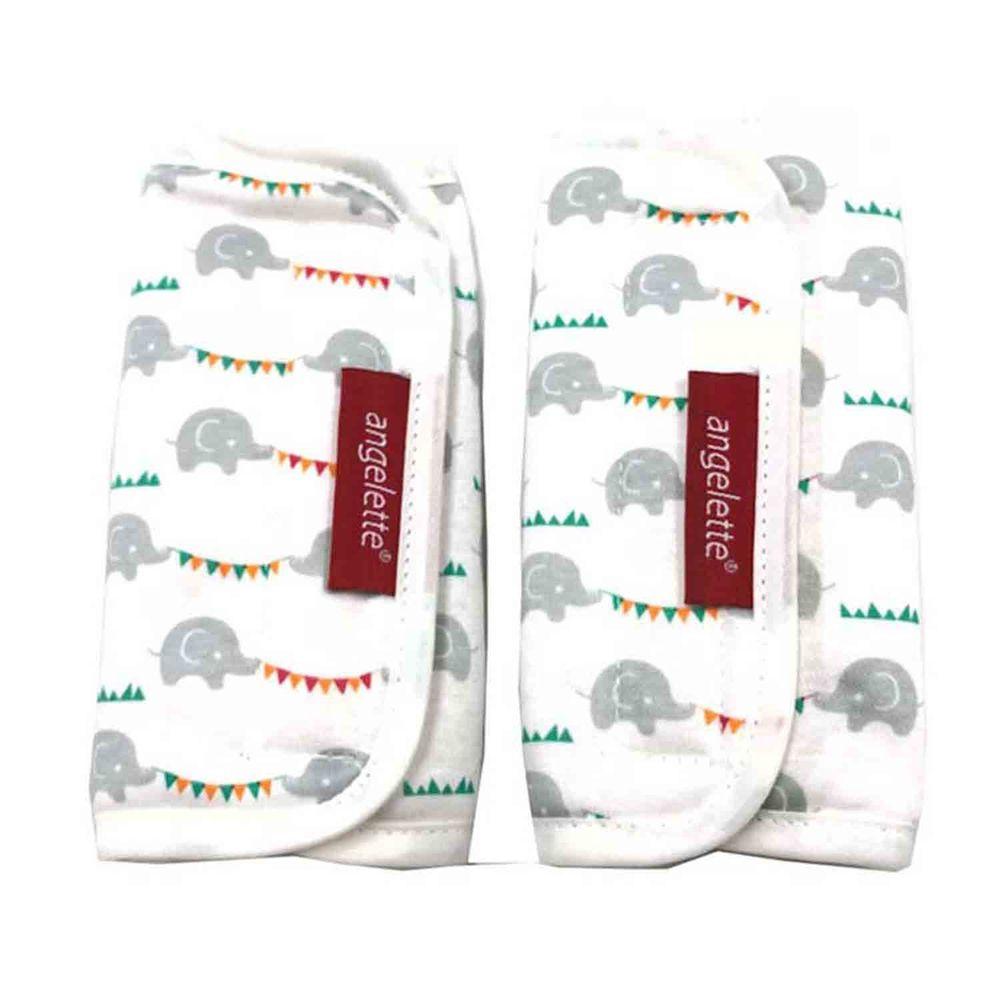 akachan honpo - angelette背帶口水巾-大象-白色