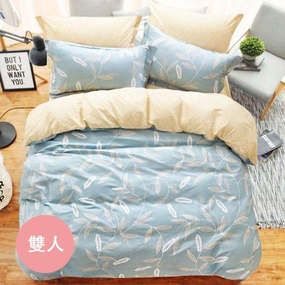 PureOne - 極致純棉寢具組-隨風搖曳-雙人三件式床包組