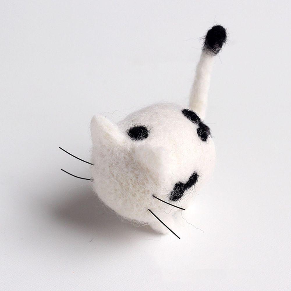 Diy寵物造型羊毛氈戳戳樂材料包-黑白斑點貓咪