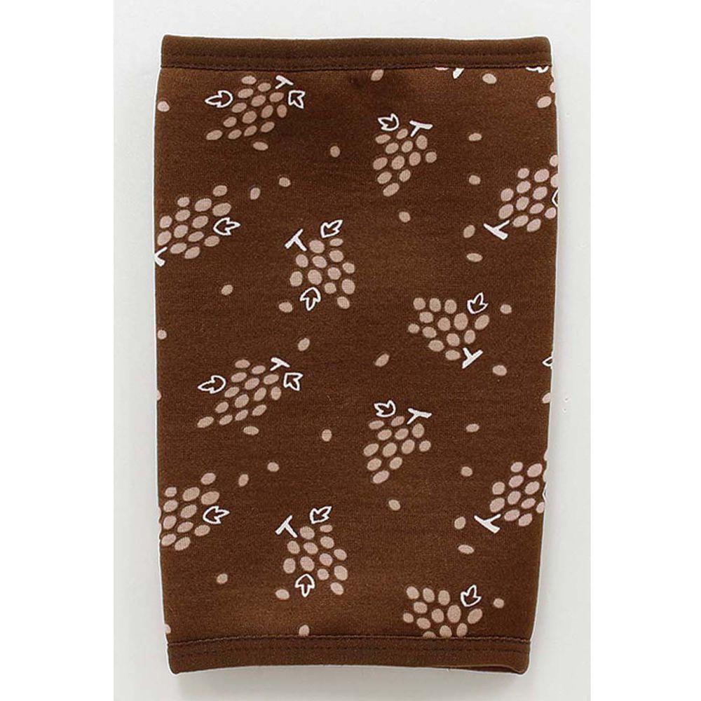 日本丸和 - 雙層機能裏起毛保暖襪套-葡萄-咖啡 (13x20cm)
