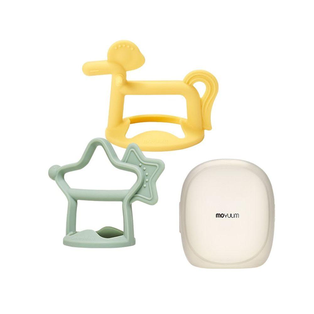 韓國 Moyuum - 白金矽膠手環固齒器禮盒-星馬款-薄荷綠+檸檬黃