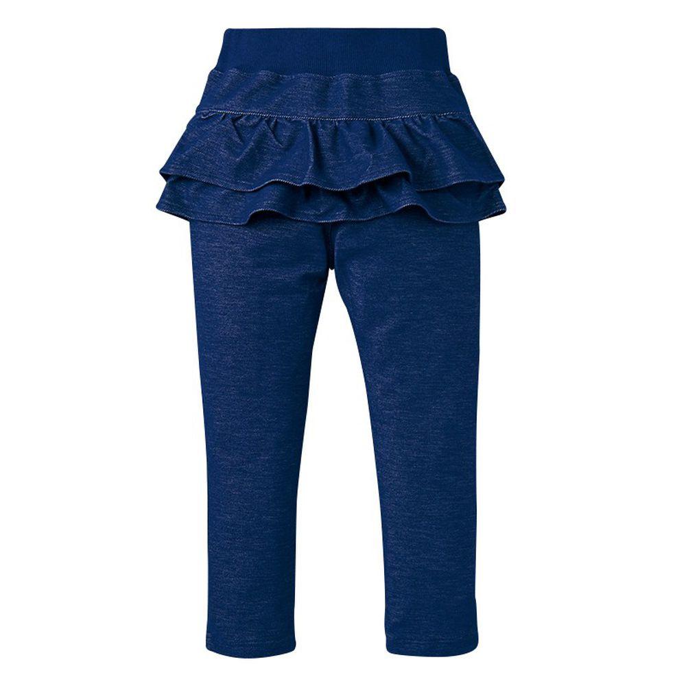 akachan honpo - 荷葉邊長褲-深藍色