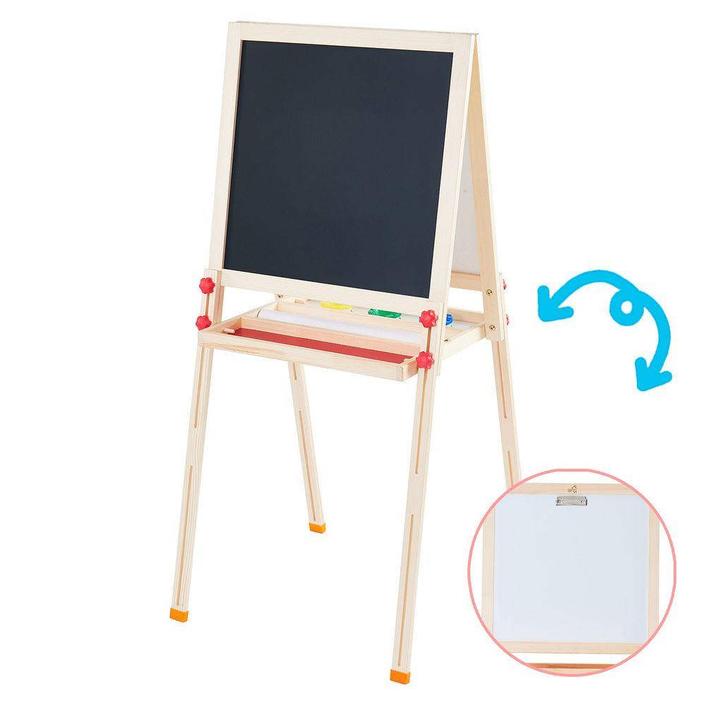 Teamson - 小藝術家梵谷兒童雙面畫架-紅-獨家贈雙面小畫架組:雙面黑白版、粉筆、白板筆、板擦、字母磁鐵