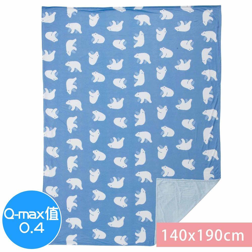 日本小泉 - 節電對策冷感薄毯-北極熊20-深藍 (140x190cm)