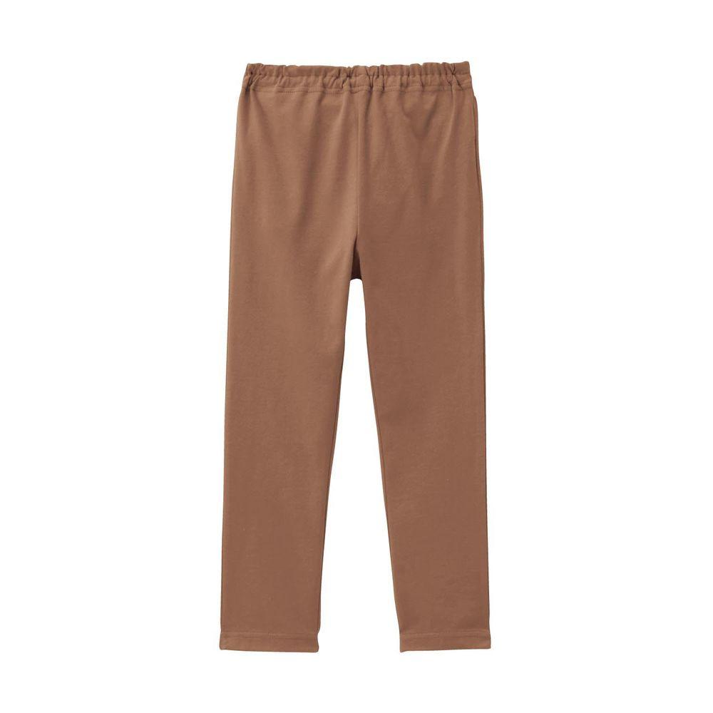 日本千趣會 - GITA 超彈力純棉10分內搭褲-咖啡